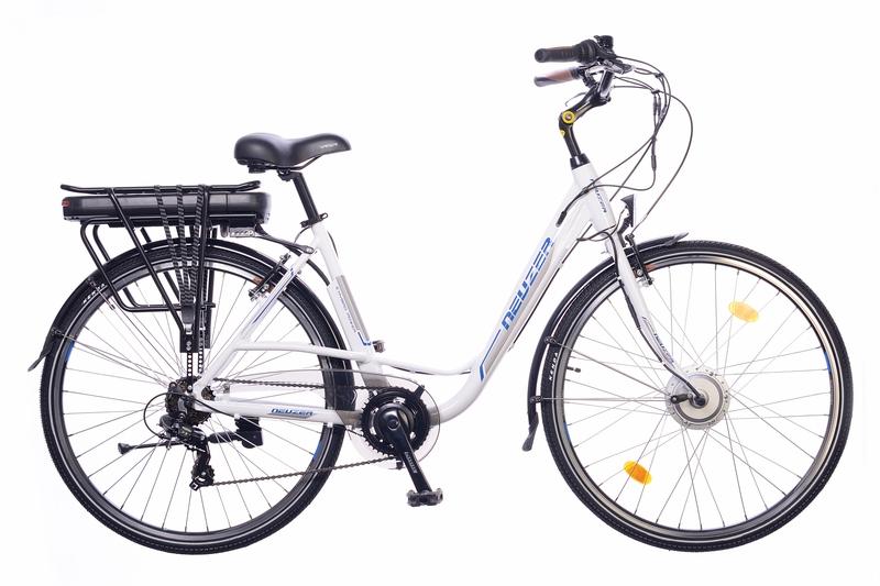 Neuzer E-Trekking Bafang női fehér/ezüst-kék 2018